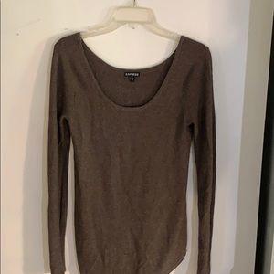 Super cute express asymmetrical cut sweater